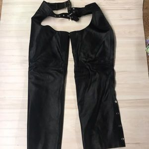 Interstate Leather men's motorcycle chaps size XL
